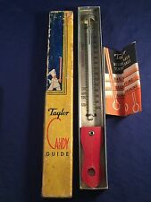 Vintage Taylor Candy Thermometer Stainless Steel ORIGINAL Box