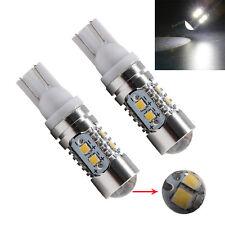 2Pcs 12V 24V White T10 W5W 10SMD 2323 LED Len 194 168 LED Car Side Wedge Light