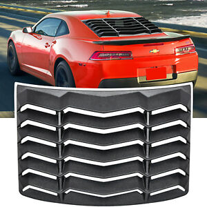 Rear Window Louver Windshield Sun Shade Cover for Chevy Camaro 2010-2015 Black