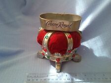 CROWN ROYAL LIQUOR JEWELED CROWN STAND BOTTLE DISPLAY VINTAGE BAR COLLECTABLE