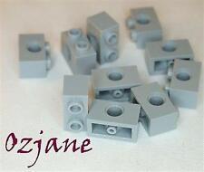 Lego Repuestos Partes 3700 Luz Azulada Gris Technic Brick 1 x 2 con agujero 10 Pieza