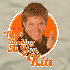HERE'S LOOKING AT YOU KITT Knight Rider T-Shirt  80s TV show David Hasselhoff
