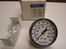 "Ashcroft 25W1001TH 2-1/2"" Pressure Gauge 0-60 PSI Panel Mount 1/4"" NPT NEW"