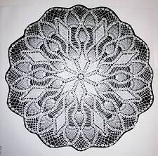 """1294 Vintage JEWEL PINEAPPLE DOILY Pattern to Crochet (Reproduction) 22"""""""