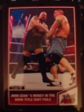 2013 Topps Best of WWE #34 John Cena's Money In the Bank Fails BLUE Parallel