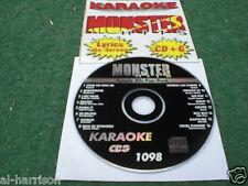 KARAOKE MONSTER HITS CD+G CLASSIC FEMALE 80's POP/ROCK HITS #1098