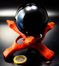 Glaskugel Kristallkugel schwarz 60 mm Spiegelmagie Edel