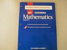 Holt California Mathematics Course 1 Countdown Mastery Transparencies 0030945232