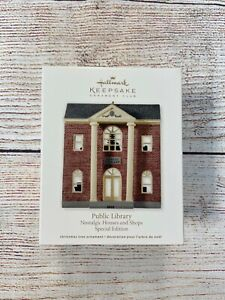 Hallmark Keepsake Ornament Public Library Nostalgic Houses and Shops NEW