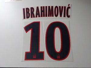 Flocage IBRAHIMOVIC PSG  patch LFP shirt Paris Saint Germain  maillot