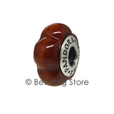 NEW Pandora Muiracatiara Wood Carved Scalloped Flower Wooden Charm Rare 790713