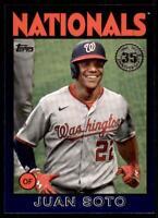 2021 Series 1 1986 Topps Baseball Blue #86B-96 Juan Soto - Washington Nationals