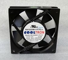 Cooltron 120mm x 25mm High Airflow Fan 110V 115V 120V AC 2 Ball FA1225B11T7C-31
