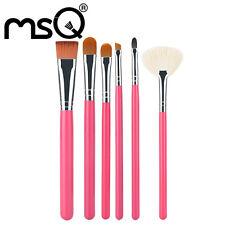 6PCs Red Fan Makeup Brushes Set Foundation Blending Eyebrow Brush Set Tools MSQ