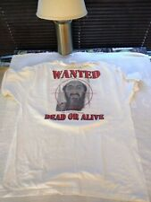 Vintage 2001 Osama Bin Laden Wanted Dead or Alive Photo White Tee Extra Large XL