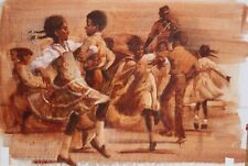 BEN WOHLBERG-Original Oil Illustration-McPherson's Elbow Room-Franklin Mint