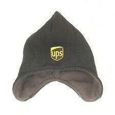 UPS Helmet Beanie Winter Hat Decky Custom Embroidery Cuffed Knit Brown Ear Cover