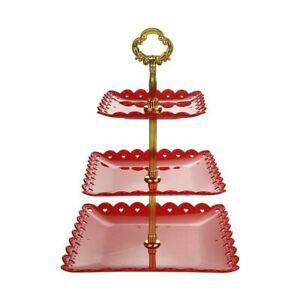 3-Tier Cupcake Stand Cake Round Serving Display Dessert Plate Rack Wedding Party