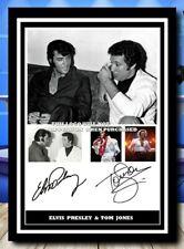 More details for (543) elvis presley & tom jones signed unframed/framed photograph reprint @@@@@