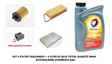 KIT TAGLIANDO FILTRI + OLIO TOTAL 5W40 PEUGEOT 206 207 1.4 HDI  motore 8HR