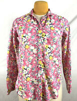 HOLDING HORSES Anthropologie Women's Floral Summer Blouse Shirt Top Size 4