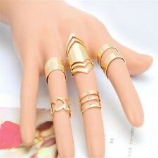 5Pcs Women Joint Rings Finger Rings Fashion 18K Gold Plated Xmas GIft Jewelry#he