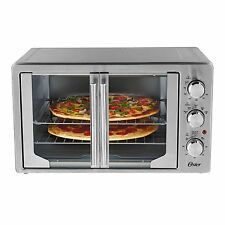 Countertop French Door Oven Convection Pizza Toaster Baking Broil Large Capacity