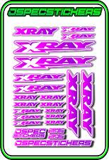 XRAY RC A5 STICKER SHEET NT1 T4 XB9 RX8 ELECTRIC NITRO CAR DECALS R/C PINK/PUR W