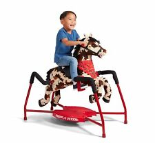 Radio Flyer 386Z Freckles Interactive Plush Riding Horse - White and Brown