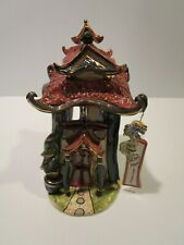 "Blue Sky Corp. ""The Happy Dragon Restaurant"" Porcelain Pagoda Figurine/Candlehou"