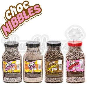 Chocolate Nibbles Choc Nibs Sweet Dreams Original, Toffee Crumble, Jammie, Lick