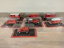 More details for del prado french fire engine bundle job lot x 7 vehicles. free uk postage.