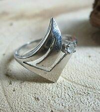 ring silber 925 in edlem design mit brillant simili 18 mm