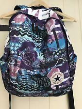 Converse All Stars Rucksack School Bag Backpack VGC purple Teal Girls