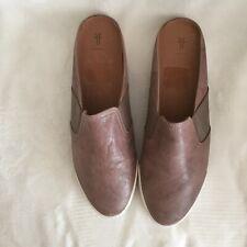 Frye Leather Gored Mules - Melanie, Grey, Size 8M, New