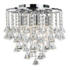 Searchlight Dorchester 4 Lights Crystal Flush Ceiling Fitting Chandelier Light
