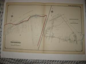VINTAGE ANTIQUE 1915 BROOKHAVEN SUFFOLK COUNTY NEW YORK HANDCOLORED MAP SUPERB