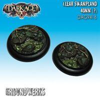 Dark Age: Groundwerks Base Inserts - 40mm Clear Swampland (2) - DAG9416