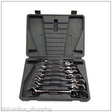 8pc Spanner Wrench Ratchet Ring Box Set Kit 8-19mm Tool Mechanic Car Garage UK