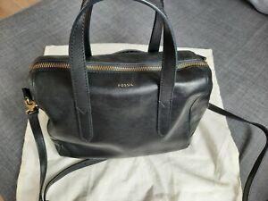 FOSSIL Sydney Satchel Umhängetasche Handtasche  Schwarz
