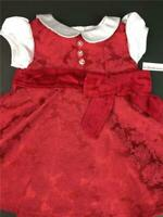 American Girl Bitty Baby Twins Berry Red Brocade Holiday Party Christmas Dress