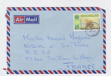 seychelles 1991 air cover with one ship stamp to france    l2005
