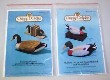Orange Delights Sewing Pattern 407 Mallard Decoy & 405 Canadian Goose Bookends