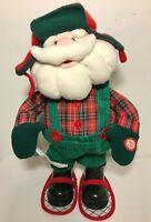 "AVON Santa Claus Snow-Shoes Plush Animated Sings ""Shout"" Christmas Holiday 2004"