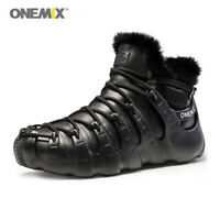ONEMIX Women's Casual Snow Ankle Boots Winter Men Keep Warm Wool Slip on Shoes