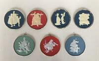 7 Vintage Norman Rockwell Collection Christmas Ornaments All in Orig. Boxes