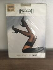 Wolford Satin Touch 20 Stay Up Tights Stockings XS