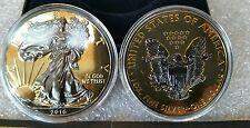 American Silver Eagle REVERSE BLACKOUT Dollar Ruthenium & 24K Gold ASE Rare SAE
