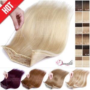 100% Echthaar Stirnband Wire In Human Hair Mit Draht Extensions Haarverlängerung