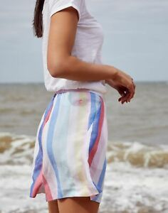 Joules Womens Coretta Printed Fluid Short - Multi Stripe - 12